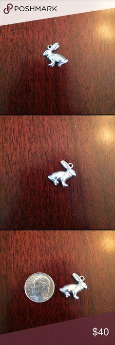 Sterling Silver Rabbit Charm Vintage Sterling silver rabbit charm vintage. Detail. Not hollow. Jewelry