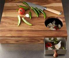 Taglieri da cucina di design - Tagliere con cassetto