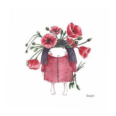 • poppy-flower •  #bysoosh #sketch #sketching #sketchingeveryday #watercolor #watercolorwork #draw #drawing #doodle #justsketch365 #365 #kids #poppy #poppyflower #kawai #kawaii #primitiveart #simple #funny #cute #spirit #boho #mori #art #artwork