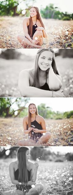Erica Houck Photography Senior session shoot photoshoot dandelion portrait • Great idea for Senior Photos