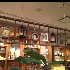 What a cool way to display lanterns!   I see them in a lot of stores. They always catch my eye. I think I'll start collecting them and do this display. :)