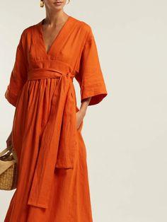 Kimono Dress, Dress Skirt, Wrap Dress, Knot Dress, Apron Dress, Kimono Fashion, Fashion Outfits, Linen Dress Pattern, Lookbook