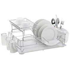 Home Basics 2 Tier Dish Rack Delectable Home Basics 2Tier Dish Rack Home Basicshttpwwwamazondp Inspiration Design