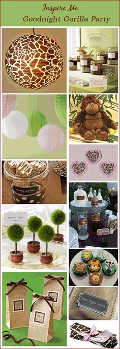 Goodnight Gorilla party ideas (lots of other great options on my Parties: Jungle, Safari & Zoo)