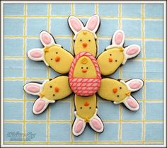 Chicks in Bunny Disguise for Easter by Melissa Joy Cookies | Cookie Connection