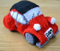 I have been d oing some knitting to order. I don't do very much of this, as sometimes it is hard to judge how long the knitting is going. Creative Crafts, Diy Crafts For Kids, Kids Diy, Craft Ideas, Red Mini Cooper, Holiday Ornaments, Craft Activities, Knitting Needles, Knitting Projects