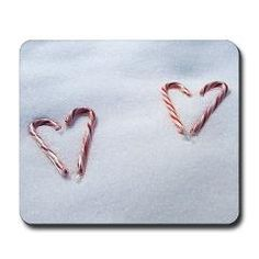 Candy Cane Hearts in the Snow Mouse Pad ($15.99)