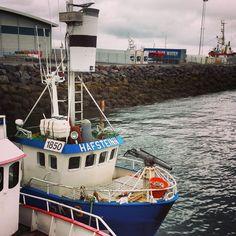 """Minke"" whaling vessel in the port of Hafnarfjörður, June 2014"