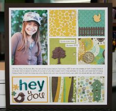Hey, You - Club CK - The Online Community and Scrapbook Club from Creating Keepsakes Scrapbook Sketches, Scrapbooking Layouts, Scrapbook Cards, Baby Boy Scrapbook, School Scrapbook, Single Pic, Creating Keepsakes, Cloth Paper Scissors, Mixed Media Tutorials