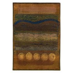 The Conestoga Trading Co. Kalinda Gold/Green Area Rug Rug Size: 4' x 5'9""