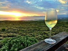 Sunset in Grootbos, South Africa.
