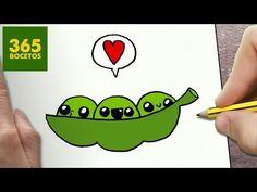 COMO DIBUJAR GUISANTES KAWAII PASO A PASO - Dibujos kawaii faciles - How to draw a GREEN PEAS - YouTube