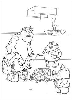 Tegninger til Farvelægning Monsters Inc. - University 19