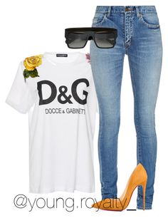 """Untitled #2058"" by flyyshitonly ❤ liked on Polyvore featuring Dolce&Gabbana, Yves Saint Laurent, Anna-Karin Karlsson and Christian Louboutin"