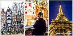 Amesterdão, Bruxelas, Paris são cidades na Europa que pode visitar numa semana. Este roteiro mostra como fazer uma 1ª viagem de avião e TGV.