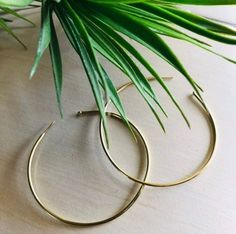 #hoopearringsdiy #hoopearringsgold #hoopearringslarge #hoopearringsaesthetic ❣product feature: raw brass,not plated,long time use will cause oxidation and change of color. Keep away from liquids,chemicals,sweat etc. ❣This brass earrings are 100% handmade, made from solid brass sheet metal. They have been polished for texture, making them very shiny.
