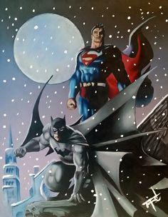 """""""Hero's Snow Storm"""" - Mixed Media."""