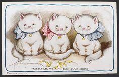Grace Wiederseim Postcard ~ We Ain't Seen Your Birdie
