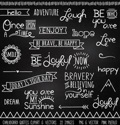 Check out Chalkboard Quotes Clipart & Vectors by PinkPueblo on Creative Market