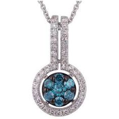"Jewelcology - Get 0.38 Carat Blue Diamond 14K White Gold Necklace 2.85g (""542-R878DLK4WT""), $886.76 (http://jewelcology.com/get-0-38-carat-blue-diamond-14k-white-gold-necklace-2-85g-542-r878dlk4wt/)"