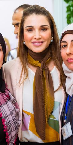 Queen Rania while visiting the IRC Women's Protection and Empowerment Center in Ramtha Ramtha, Jordan / March 23, 2016