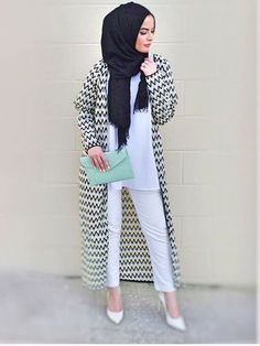 cool Monochrome black and white hijab street style... by http://www.newfashiontrends.pw/street-hijab-fashion/monochrome-black-and-white-hijab-street-style/