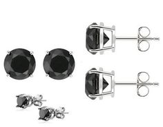 Authentic Black Cubic #Zirconia Sterling Silver