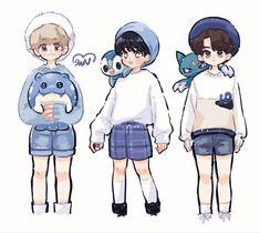 Kids Fans, Crazy Kids, Kpop Fanart, Cartoon Wallpaper, Art Reference, Doodles, Fan Art, Draw, Anime