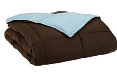 Oversized all-season Luxurious Down Alternative Comforter, King, Chocolate/Sky Blue Grand Down http://www.amazon.com/dp/B00EMJVOF0/ref=cm_sw_r_pi_dp_OnH6vb10JRF64