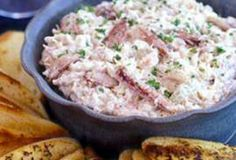 Crab Dip.  Easy cream cheese crab meat dip - great for leftover crabs after your boil.