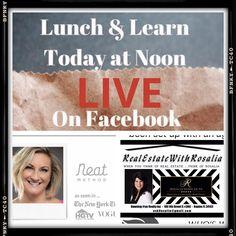 Ready to Get Organized? Join us LIVE on Facebook at NOON TODAY! Go to Rosalia Podolak #facebook #facebooklive #naplesflorida #naplesfl #swfl #organization #getorganized #neatmethod #neat #declutter #marcoisland #rosaliapodolak #realestate #realtor