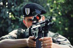 SCAR-H. Soldier in beret. jdm Fn Scar, Beret, Jdm, People, Berets, Japanese Domestic Market, People Illustration, Folk