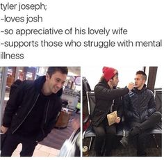 Don't forget about Josh! He treated Debby so so well and he loves Tyler and he ALSO supports those who struggle with mental illness!!! <3