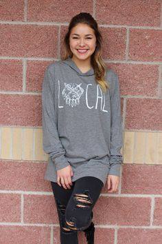 Local shield long sleeve hooded top-more colors