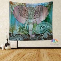 Mandala Tapestry, Mandala tapestry wall hanging, bohemian decor, bohochic wall art print