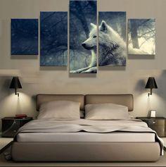 Sin Marco bnkrtopsu 5 Cuadro en Lienzo 5 Fotos Juntas en una Sala de Estar Dormitorio Creativo murales Decorativos y Carteles Cultura egipcia