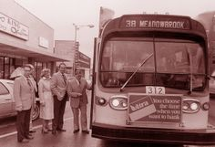 Passengers board a 38-Meadowbrook bus at  Armour & Swift in North Kansas City, Mo.