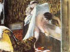 Женщина выходит из ванной - Эдгар Дега