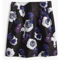 J.Crew A-Line Mini Skirt ($145) ❤ liked on Polyvore featuring skirts, mini skirts, long floral skirts, short a line skirt, j.crew, floral a line skirt and short floral skirt
