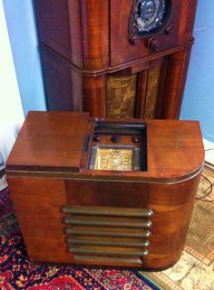 RCA Victor Chairside Radio 1937 86E Mid-Century Modern Looks w/ Stellar Sound | eBay