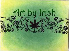 Marijuana Pot Scroll 8 1/2 x 11 Original drawing ink by ArtbyIrish, $25.00