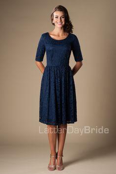 simple, navy, modest bridesmaids dress. modest-bridesmaid-dress-mw22880-navy-front.jpg