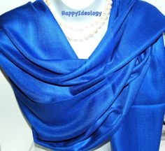 Blue Pashmina Scarf.Royal Blue by HappyIdeology on Etsy