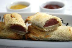 Mini Hot Dog de Forno