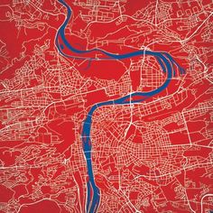 Prague, Czech Republic | City Prints Map Art
