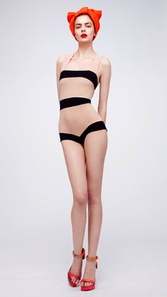 Illusion Swimsuit - Roksanda Ilincic