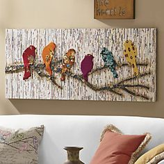 Camara Batik & Newsprint Wall Décor from Through the Country Door®