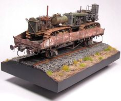 1/35 scale Russian 20-ton flatbed railcar. By Adam Kuller. #scale_model