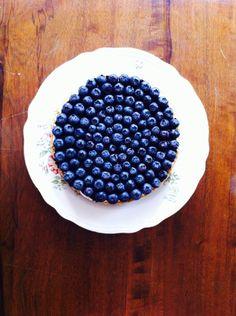 No Bake Cheesecake con mirtilli