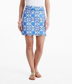Women's Skirts: Buy Shell Tile Scallop Margo Skirts | Vineyard Vines